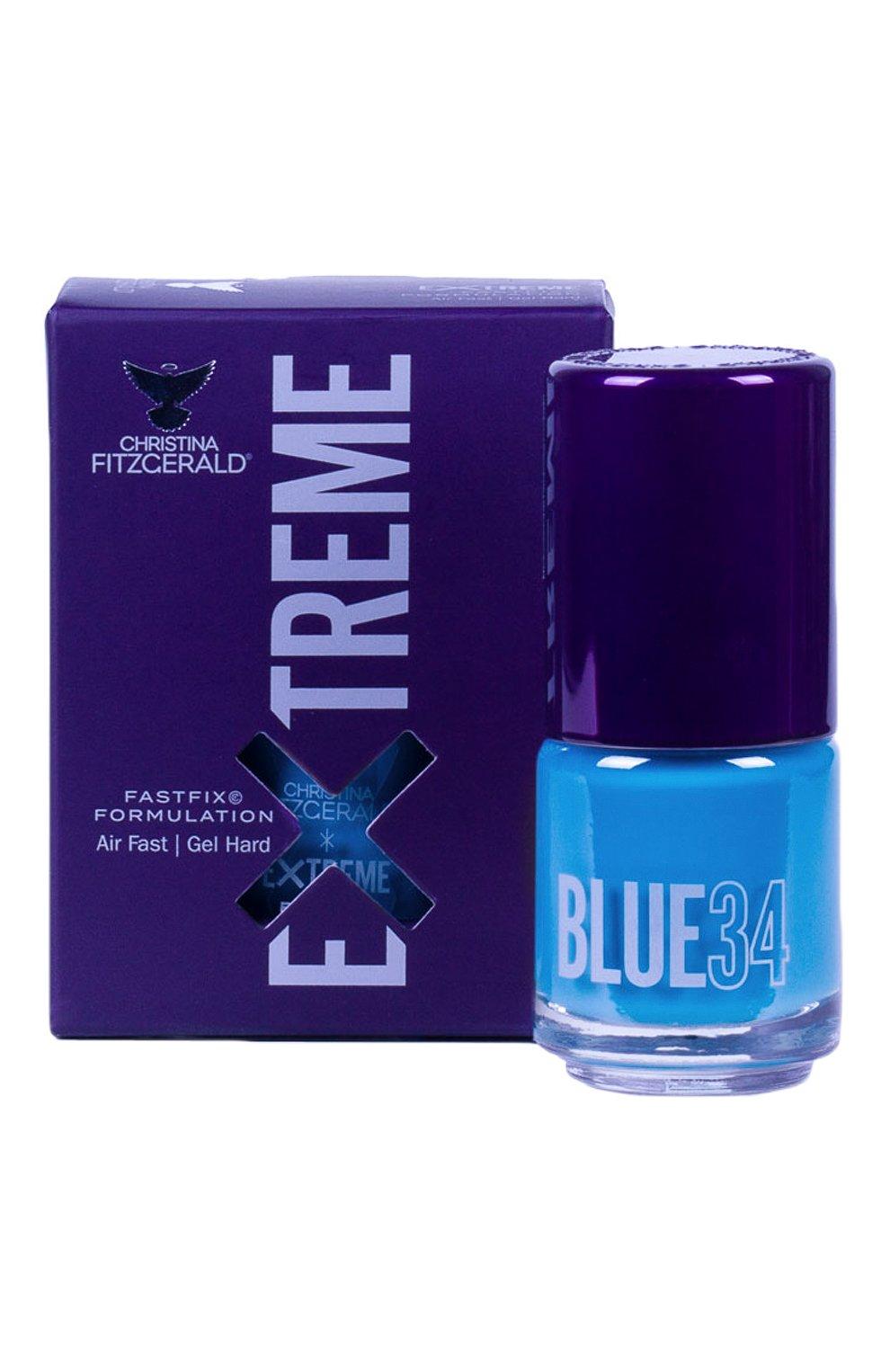 Женский лак для ногтей extreme, оттенок blue 34 CHRISTINA FITZGERALD бесцветного цвета, арт. 9333381005236 | Фото 1