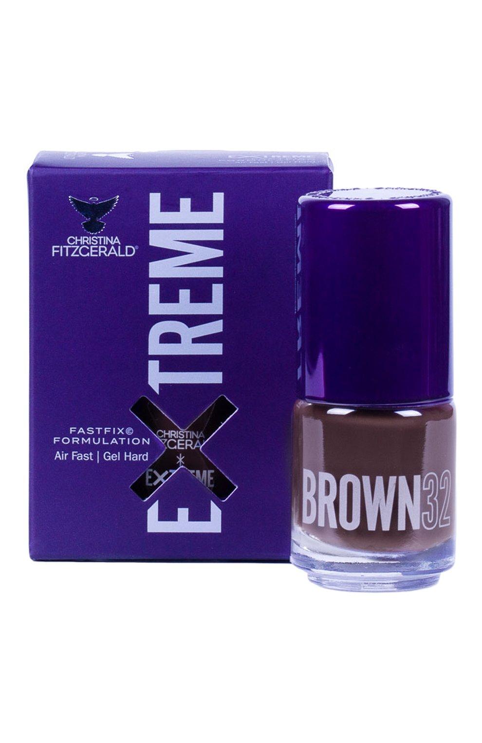 Женский лак для ногтей extreme, оттенок brown 32 CHRISTINA FITZGERALD бесцветного цвета, арт. 9333381005212 | Фото 1