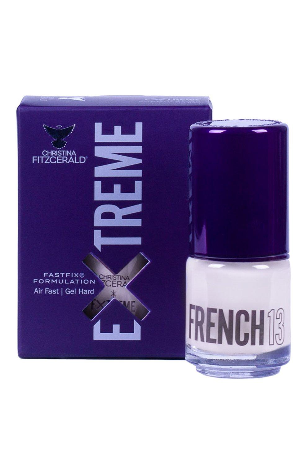 Женский лак для ногтей extreme, оттенок french 13 CHRISTINA FITZGERALD бесцветного цвета, арт. 9333381005021 | Фото 1