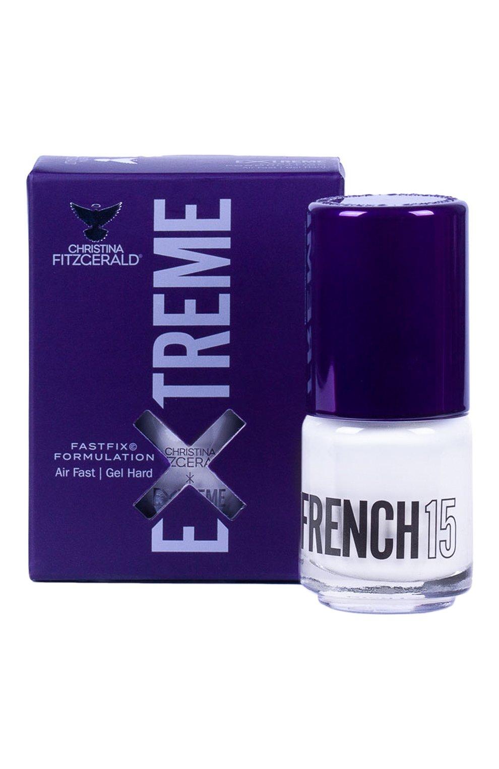 Женский лак для ногтей extreme, оттенок french 15 CHRISTINA FITZGERALD бесцветного цвета, арт. 9333381005045 | Фото 1