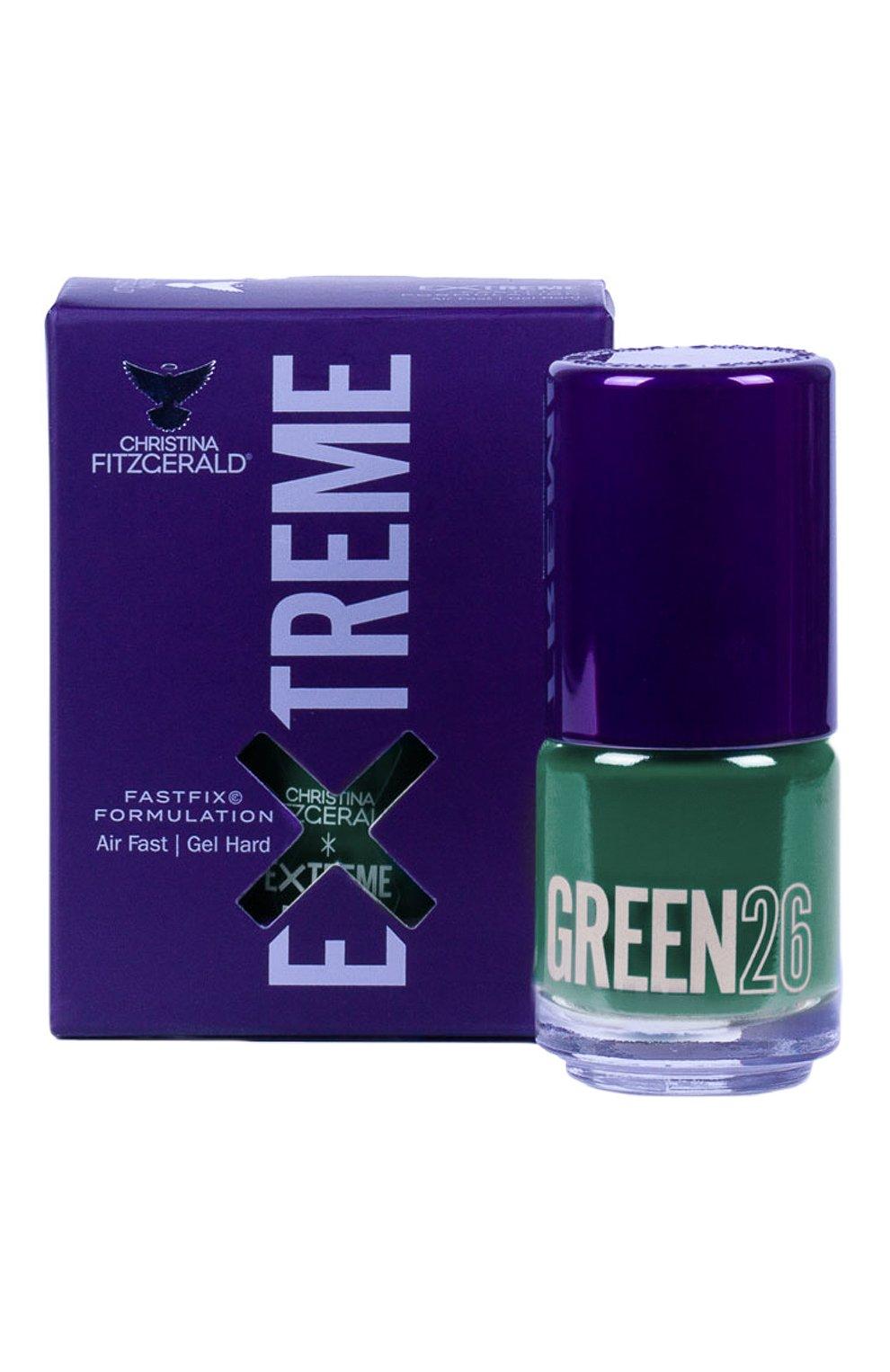 Женский лак для ногтей extreme, оттенок green 26 CHRISTINA FITZGERALD бесцветного цвета, арт. 9333381005151 | Фото 1