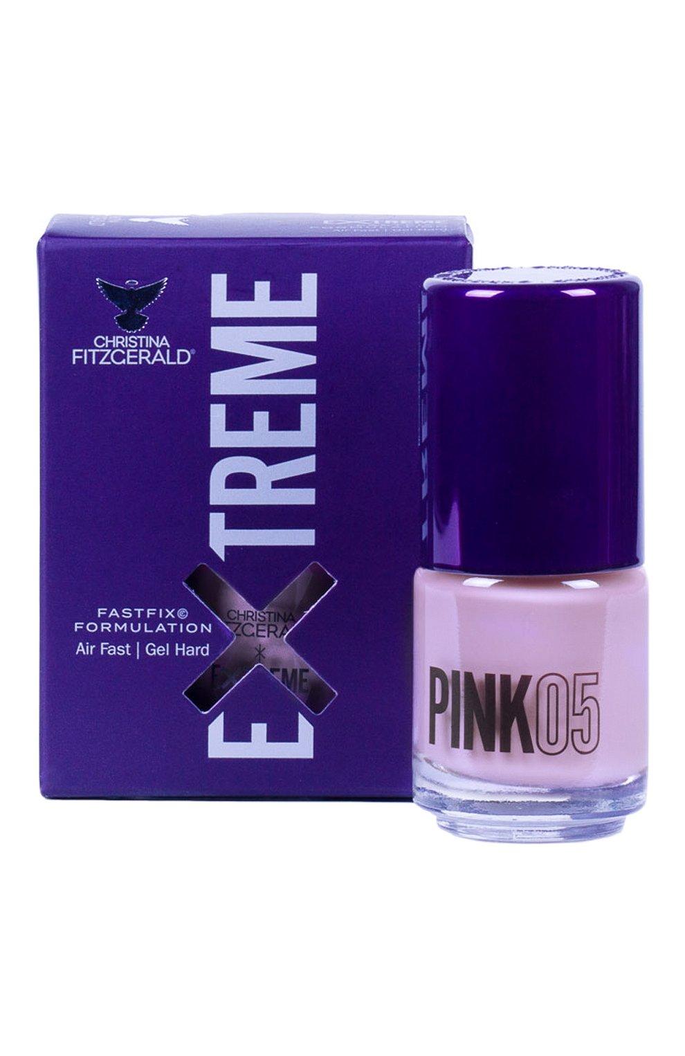 Женский лак для ногтей extreme, оттенок pink 05 CHRISTINA FITZGERALD бесцветного цвета, арт. 9333381004949 | Фото 1