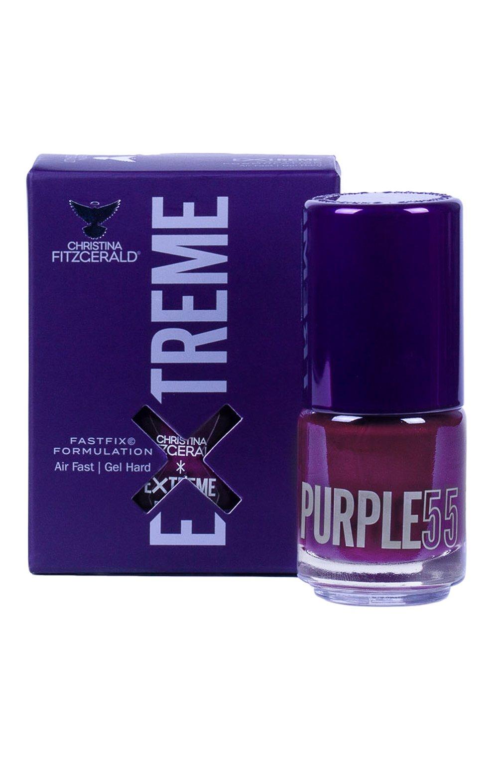 Женский лак для ногтей extreme, оттенок purple 55 CHRISTINA FITZGERALD бесцветного цвета, арт. 9333381005441 | Фото 1