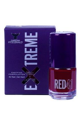 Женский лак для ногтей extreme, оттенок red 41 CHRISTINA FITZGERALD бесцветного цвета, арт. 9333381005304 | Фото 1