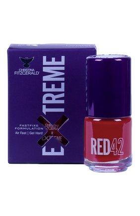 Женский лак для ногтей extreme, оттенок red 42 CHRISTINA FITZGERALD бесцветного цвета, арт. 9333381005311 | Фото 1