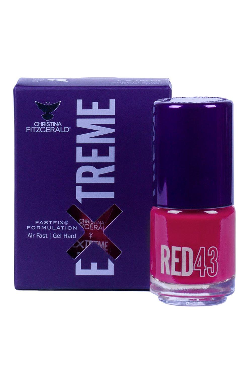 Женский лак для ногтей extreme, оттенок red 43 CHRISTINA FITZGERALD бесцветного цвета, арт. 9333381005328 | Фото 1