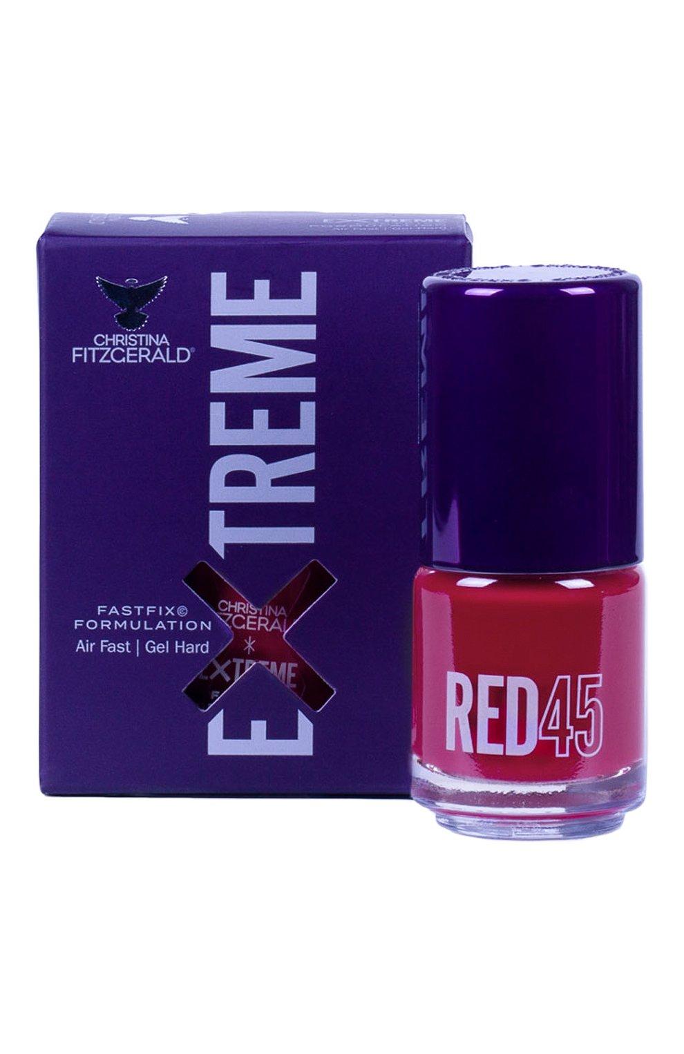 Женский лак для ногтей extreme, оттенок red 45 CHRISTINA FITZGERALD бесцветного цвета, арт. 9333381005342   Фото 1