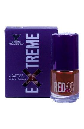 Женский лак для ногтей extreme, оттенок red 48 CHRISTINA FITZGERALD бесцветного цвета, арт. 9333381005373 | Фото 1