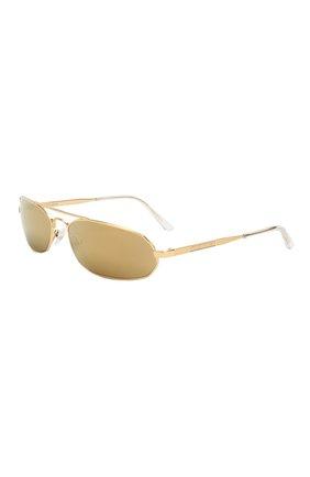 Мужские солнцезащитные очки BALENCIAGA золотого цвета, арт. 570514/T0005 | Фото 1