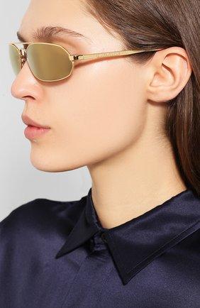 Мужские солнцезащитные очки BALENCIAGA золотого цвета, арт. 570514/T0005 | Фото 2