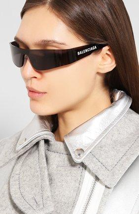 Мужские солнцезащитные очки BALENCIAGA черного цвета, арт. 570521/T0022 | Фото 2
