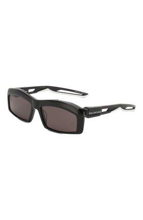 Мужские солнцезащитные очки BALENCIAGA черного цвета, арт. 570625/T0023 | Фото 1