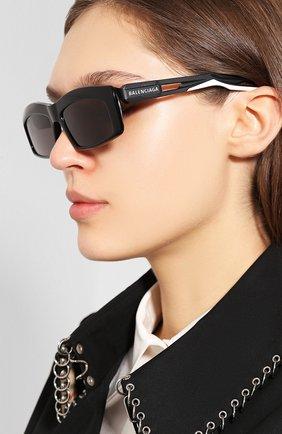 Мужские солнцезащитные очки BALENCIAGA черного цвета, арт. 570625/T0023 | Фото 2