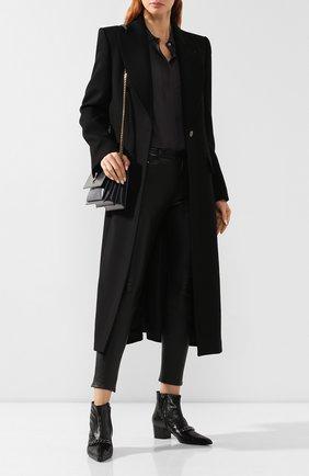 Женские кожаные ботинки TOM FORD черного цвета, арт. W2453R-LG0001 | Фото 2