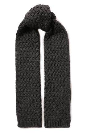 Мужские кашемировый шарф DOLCE & GABBANA серого цвета, арт. FX545T/JAWQR | Фото 1