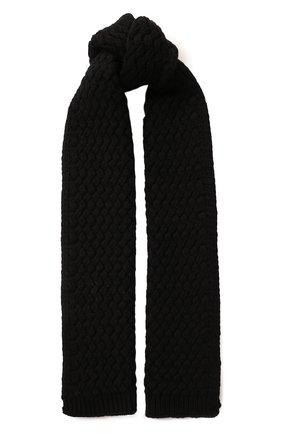 Мужские кашемировый шарф DOLCE & GABBANA черного цвета, арт. FX545T/JAWQR | Фото 1