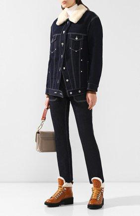 Женские кожаные ботинки bella CHLOÉ светло-коричневого цвета, арт. CHC19W245H5 | Фото 2