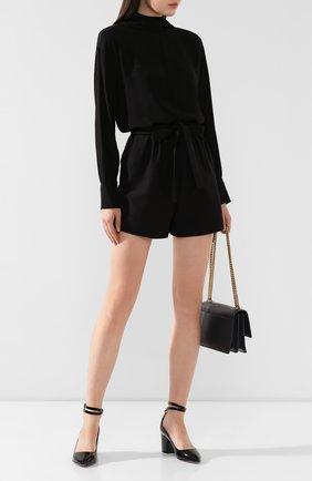 Женская кожаные туфли valentino garavani tiny chain VALENTINO черного цвета, арт. SW0S0S39/VNE   Фото 2
