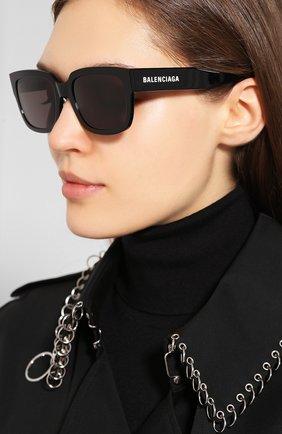 Мужские солнцезащитные очки BALENCIAGA черного цвета, арт. 584806/T0001 | Фото 2