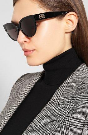Мужские солнцезащитные очки BALENCIAGA черного цвета, арт. 584805/T0001 | Фото 2