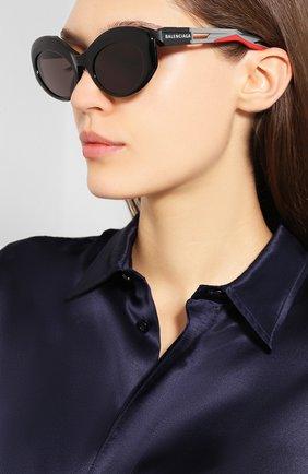 Мужские солнцезащитные очки BALENCIAGA черного цвета, арт. 584802/T0023 | Фото 2