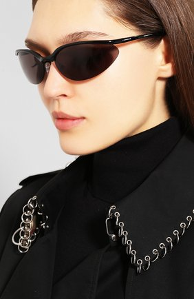 Мужские очки солнцезащитные BALENCIAGA черного цвета, арт. 584800/T0005 | Фото 2