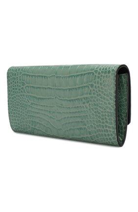 Женские кожаный кошелек SMYTHSON зеленого цвета, арт. 1024071   Фото 2