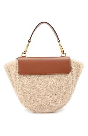 Женская сумка hortensia mini WANDLER бежевого цвета, арт. H0RTENSIA BAG MINI W00L | Фото 1
