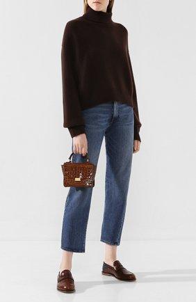 Женская сумка luna mini WANDLER коричневого цвета, арт. LUNA MINI CR0C0 | Фото 2