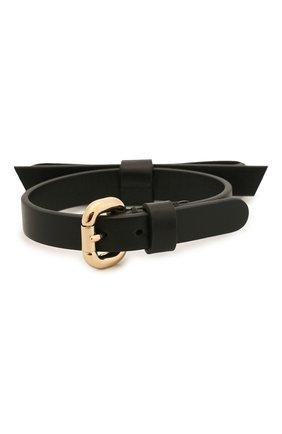 Женский кожаный браслет REDVALENTINO черного цвета, арт. SQ0J0B49/MEN | Фото 2
