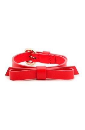 Женский кожаный браслет REDVALENTINO красного цвета, арт. SQ0J0B49/MEN | Фото 1