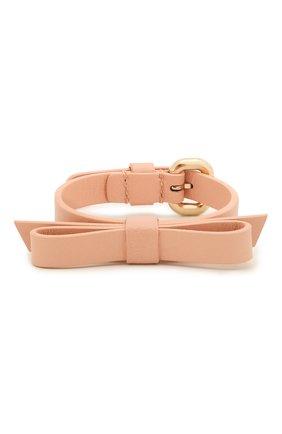 Женский кожаный браслет REDVALENTINO светло-розового цвета, арт. SQ0J0B49/MEN | Фото 1