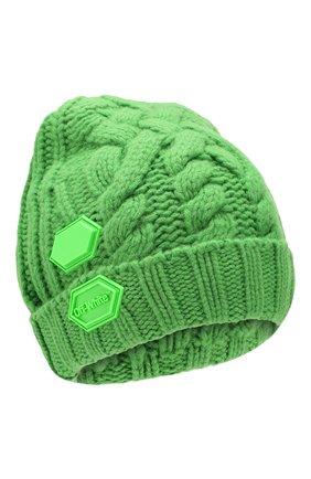 Женский шерстяная шапка OFF-WHITE зеленого цвета, арт. 0WLA008F19A280504000 | Фото 1