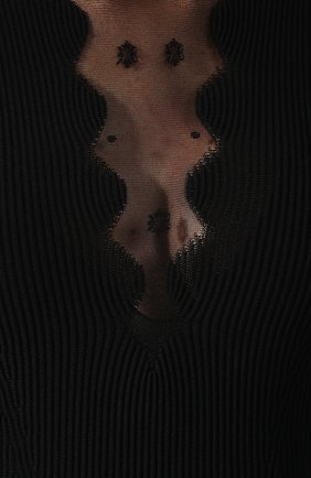 Платье из смеси вискозы и шелка | Фото №5