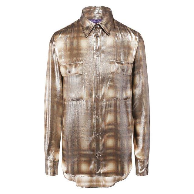 Рубашка из смеси вискозы и шелка Ralph Lauren