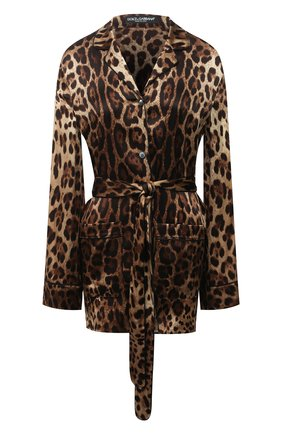 Женская шелковая рубашка DOLCE & GABBANA коричневого цвета, арт. F5I89T/FSAXY | Фото 1