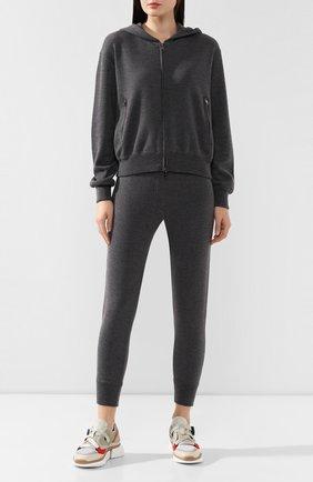 Женские кашемировые брюки DOLCE & GABBANA серого цвета, арт. FX507T/JAWPW | Фото 2