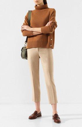 Женские шерстяные брюки THEORY бежевого цвета, арт. J0801203 | Фото 2
