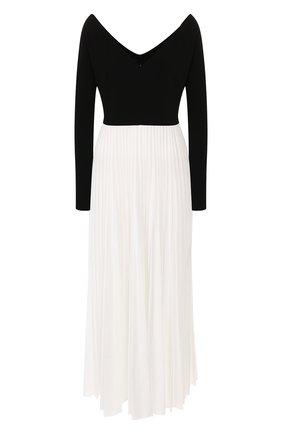 Женское платье-миди A.W.A.K.E. MODE черно-белого цвета, арт. PF19.D03 | Фото 1