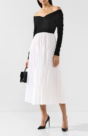 Женское платье-миди A.W.A.K.E. MODE черно-белого цвета, арт. PF19.D03 | Фото 2