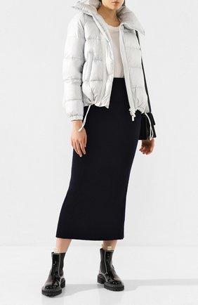 Женский пуховая куртка SACAI светло-серого цвета, арт. SCW-037 | Фото 2
