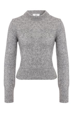 Женская свитер AMI светло-серого цвета, арт. H19FK050.003 | Фото 1