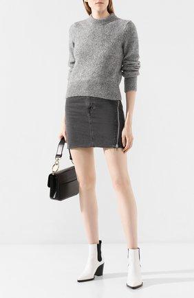 Женская свитер AMI светло-серого цвета, арт. H19FK050.003 | Фото 2