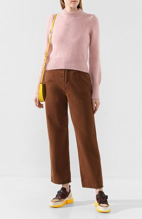 Женская свитер AMI розового цвета, арт. H19FK050.003 | Фото 2