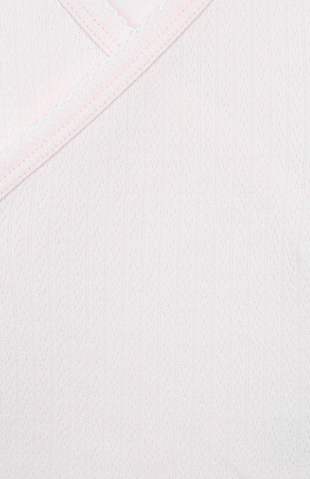 Детский хлопковая распашонка KISSY KISSY розового цвета, арт. 14120 | Фото 3