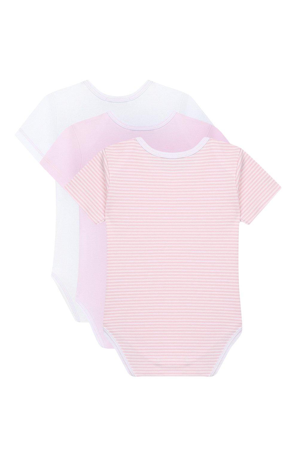 Детское комплект из 3-х боди KISSY KISSY розового цвета, арт. 38483   Фото 2