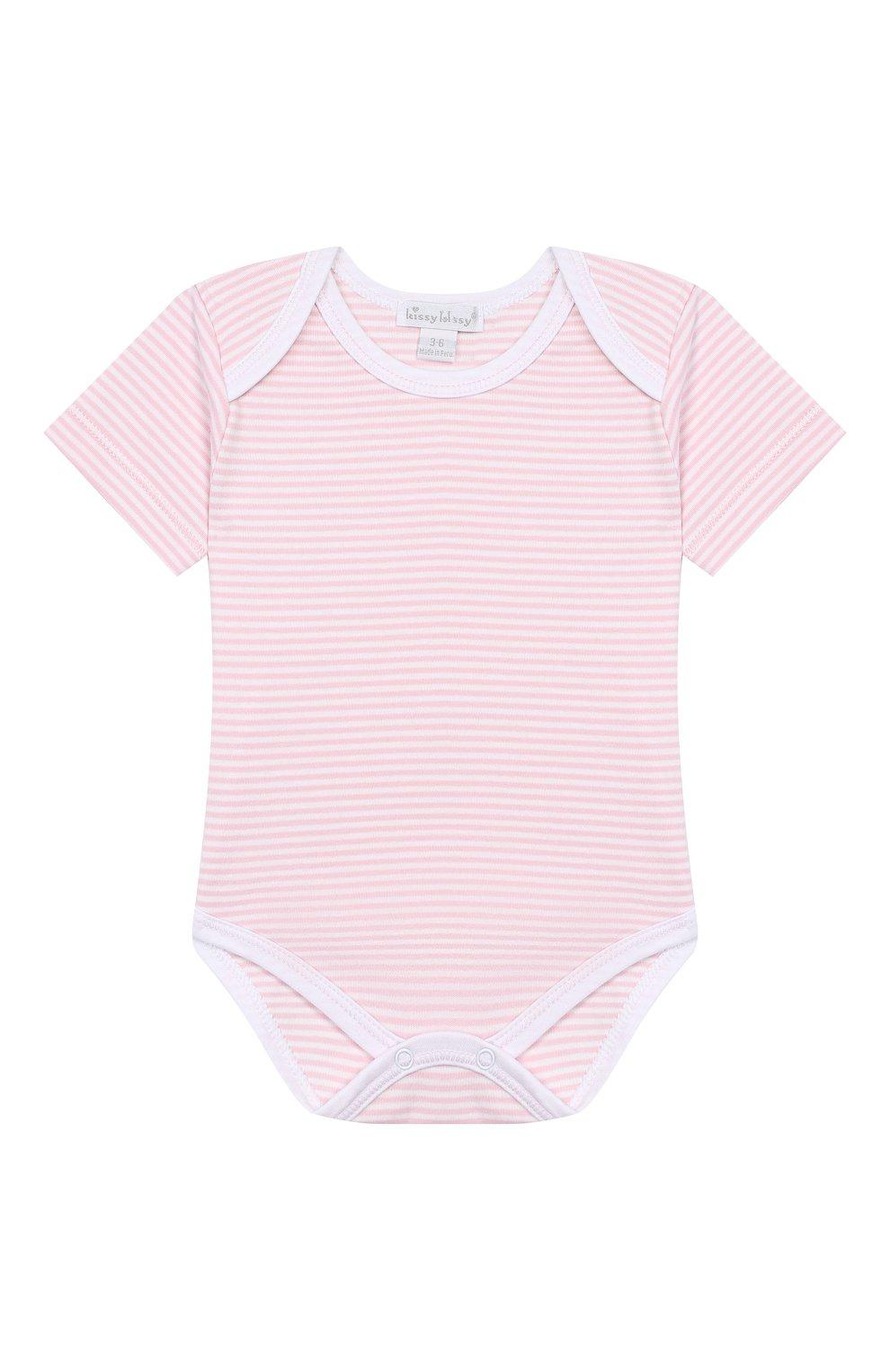 Детское комплект из 3-х боди KISSY KISSY розового цвета, арт. 38483   Фото 3