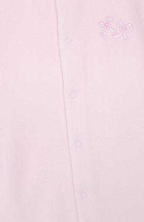 Детский хлопковый комбинезон KISSY KISSY розового цвета, арт. KGQ02305N   Фото 3