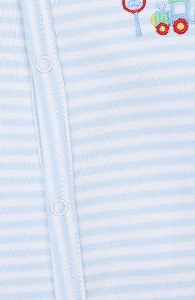 Детский хлопковый комбинезон KISSY KISSY голубого цвета, арт. KBW02689N | Фото 5