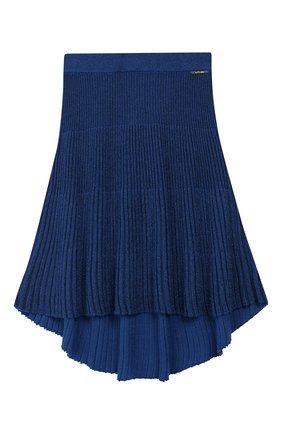 Детская плиссированная юбка TWINSET синего цвета, арт. 192GJ3011/12A-16A | Фото 1